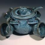 Soup Tureen with hanging bowls and matching ladle in Starry Night