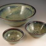 Assorted bowls in Amber Breeze