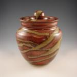 Large Lidded Jar in Copper Canyon
