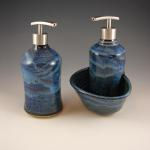 Soup dispenser & Kitchen Caddy in Starry Night Blue