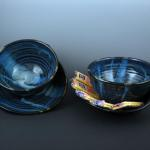 Soup N Cracker Bowls in Starry Night Blue
